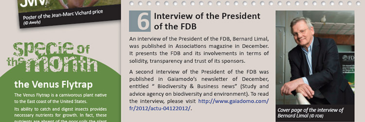 Interview of the President of the FDB