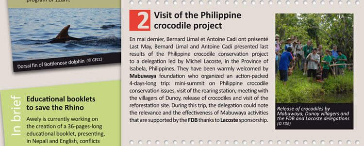 Visit of the Philippine crocodile project