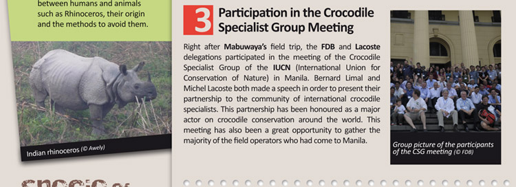 Participation in the Crocodile Specialist Group Meeting