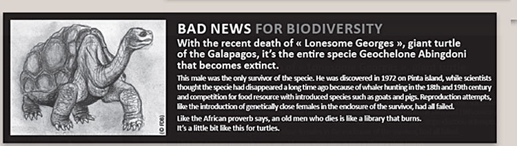 BAD NEWS FOR BIODIVERSITY
